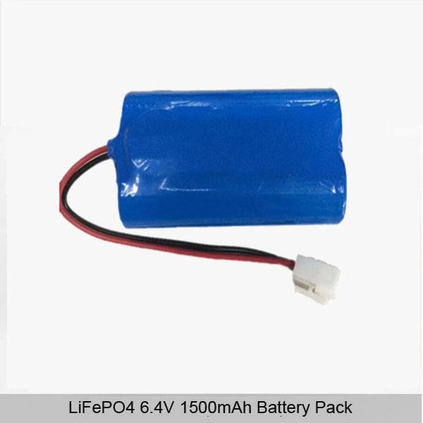 6.4V 1500mAh lifepo4 battery pack (2S1P)