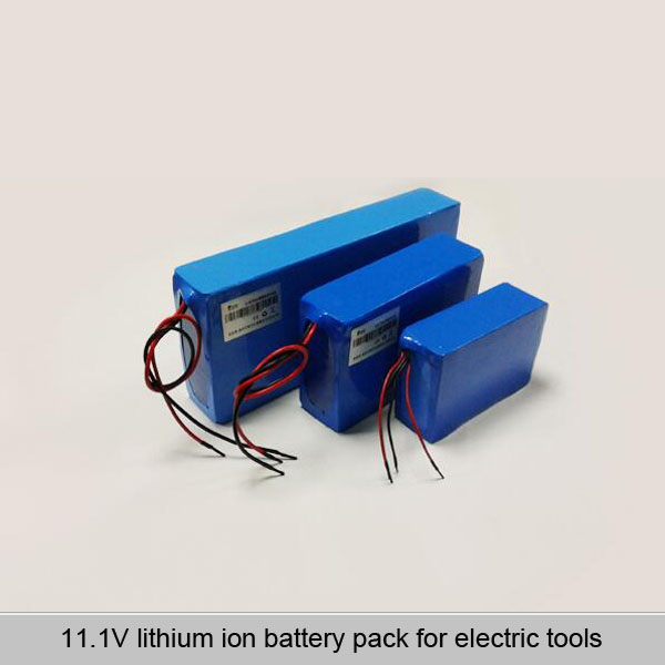 11.1V lithium ion battery pack for electric tools