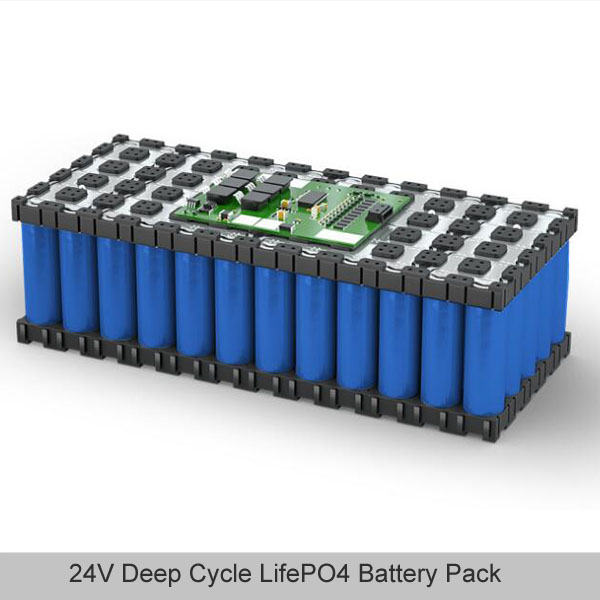 24V deep cycle LifePO4 battery pack