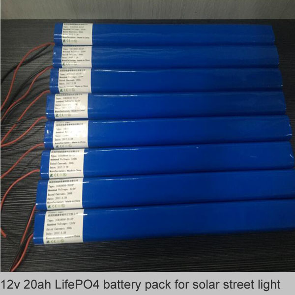12v 20ah LifePO4 battery pack for solar street light