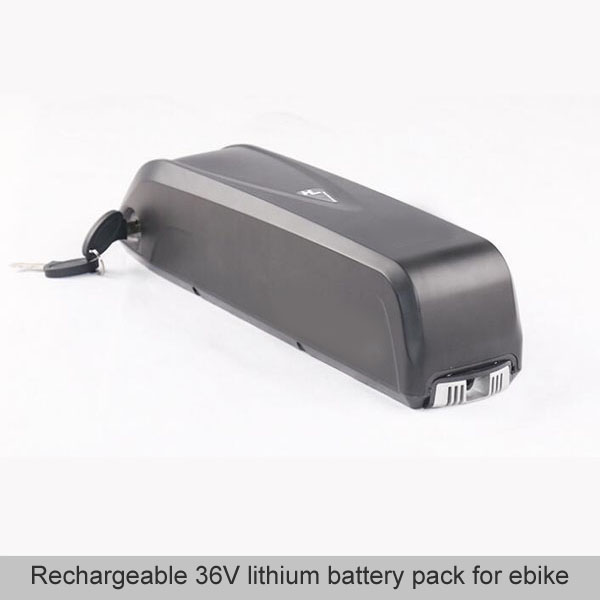 Rechargeable 36V lithium battery pack for ebike
